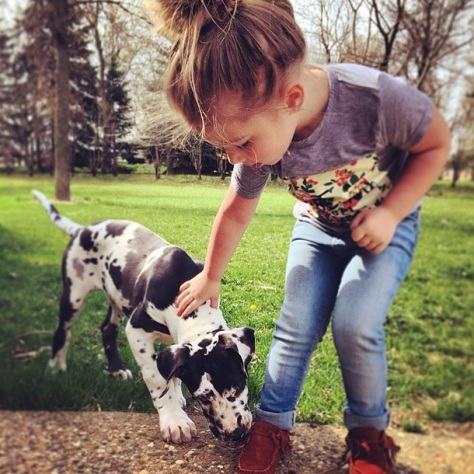 Aubree and Puppy