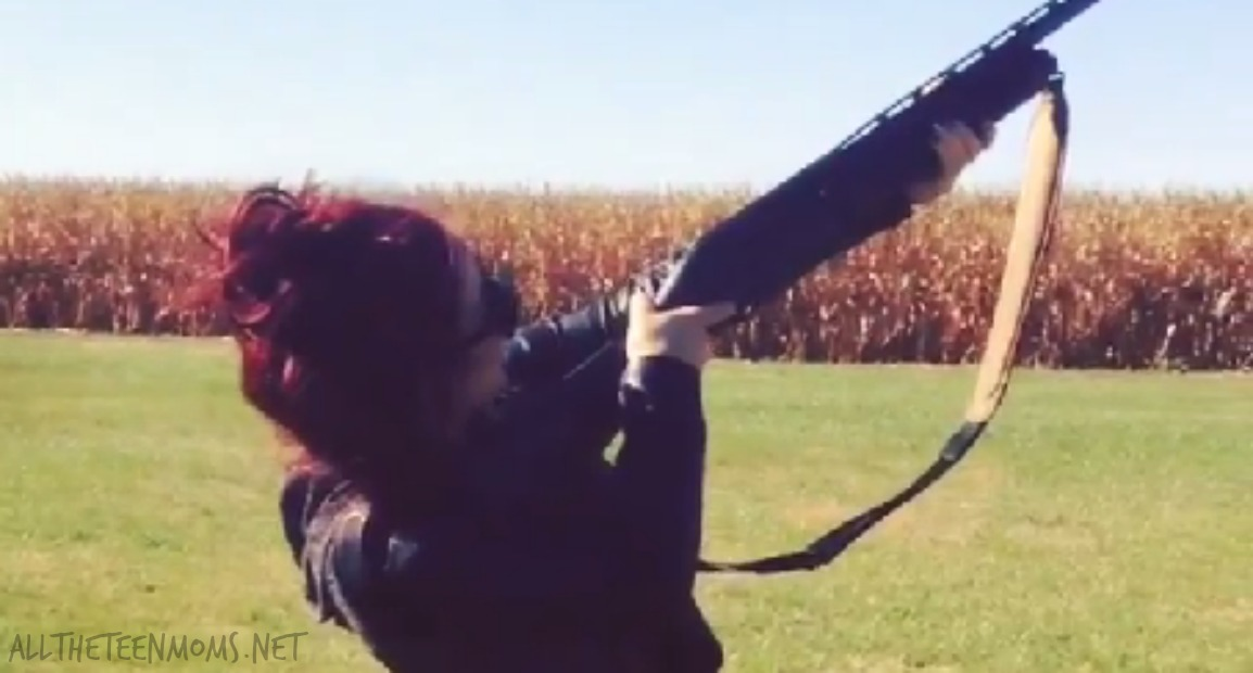 Chelsea Houska Shoots a Gun! Watch the video!