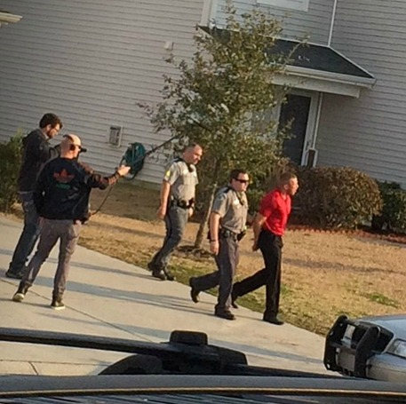 Nathan Griffith Being Arrested